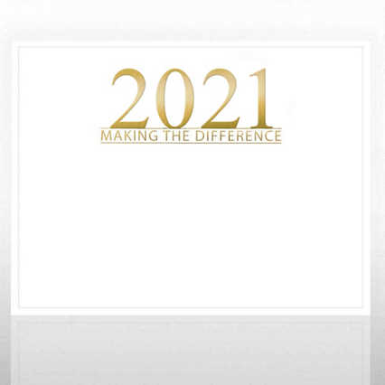 Foil Certificate Paper - 2021 Making the Difference - White