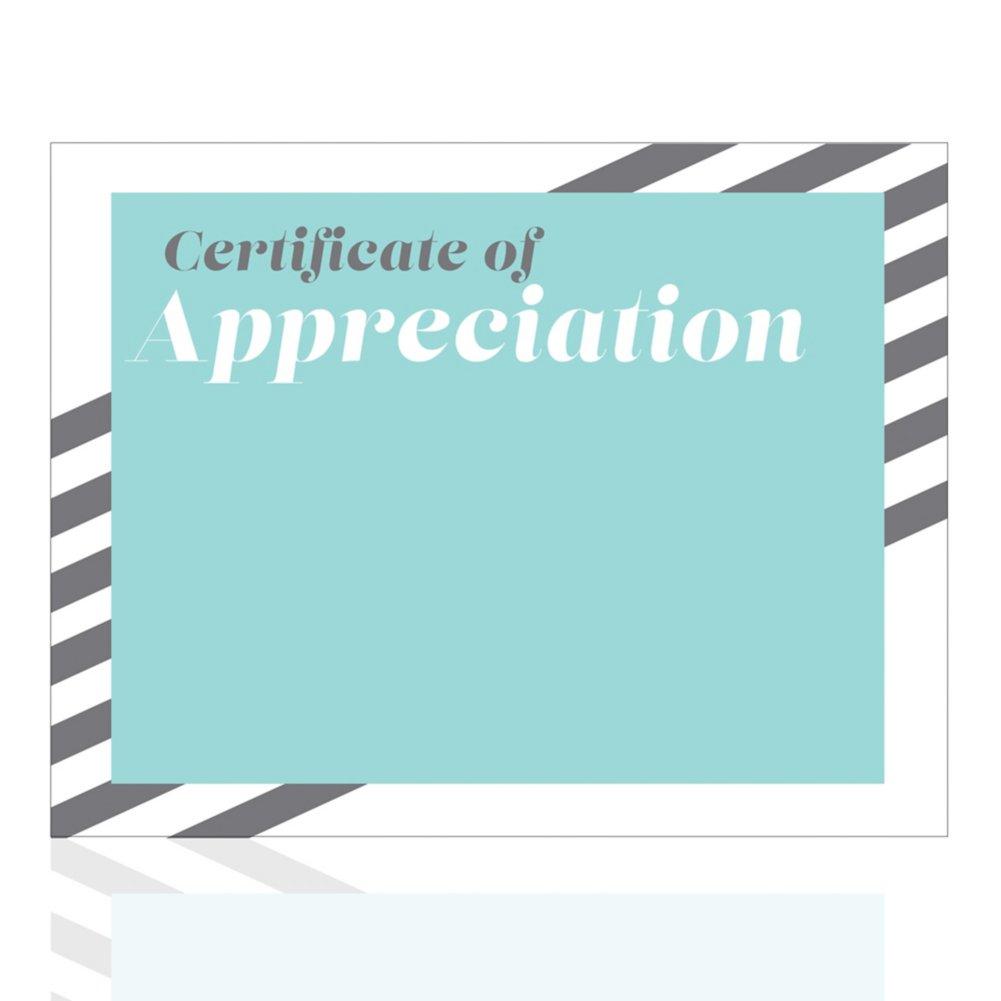 Modern Certificate Paper - Stripes