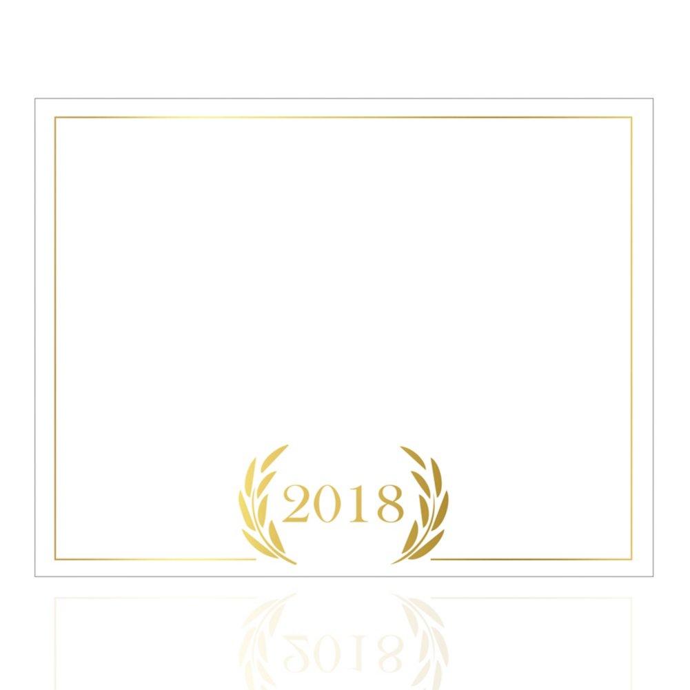 Foil-Stamped Certificate Paper -  2018 Laurels