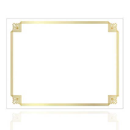 Foil-Stamped Certificate Paper - Art Deco