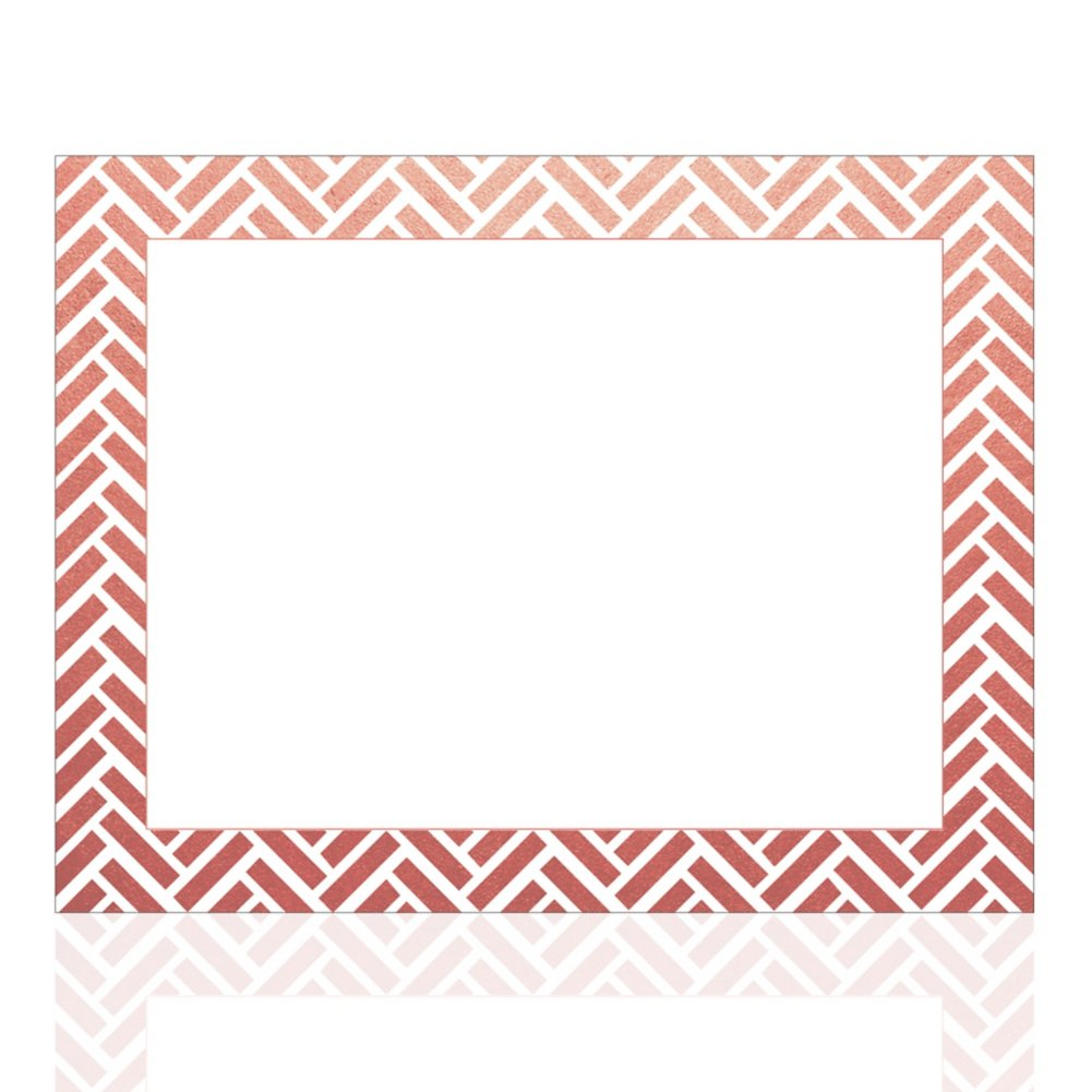 View larger image of Foil-Stamped Certificate Paper - Basket Weave - Rose Gold