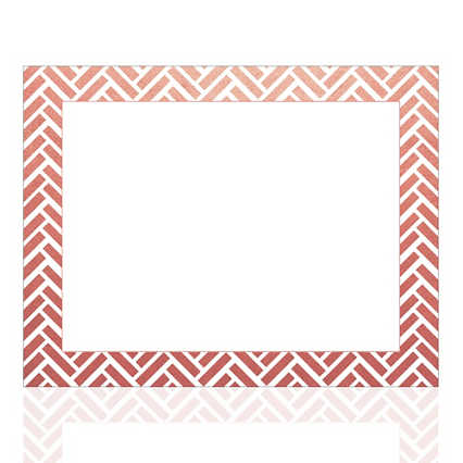Foil-Stamped Certificate Paper - Basket Weave - Rose Gold