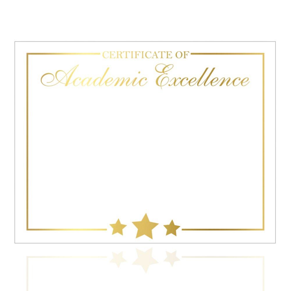 View larger image of Foil Certificate Paper - Star Accent - Academic Excellence