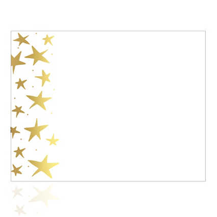 Foil-Stamped Certificate Paper -  Gold Starfish