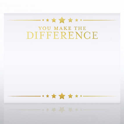 Foil Certificate Paper - You Make the Difference - Stars