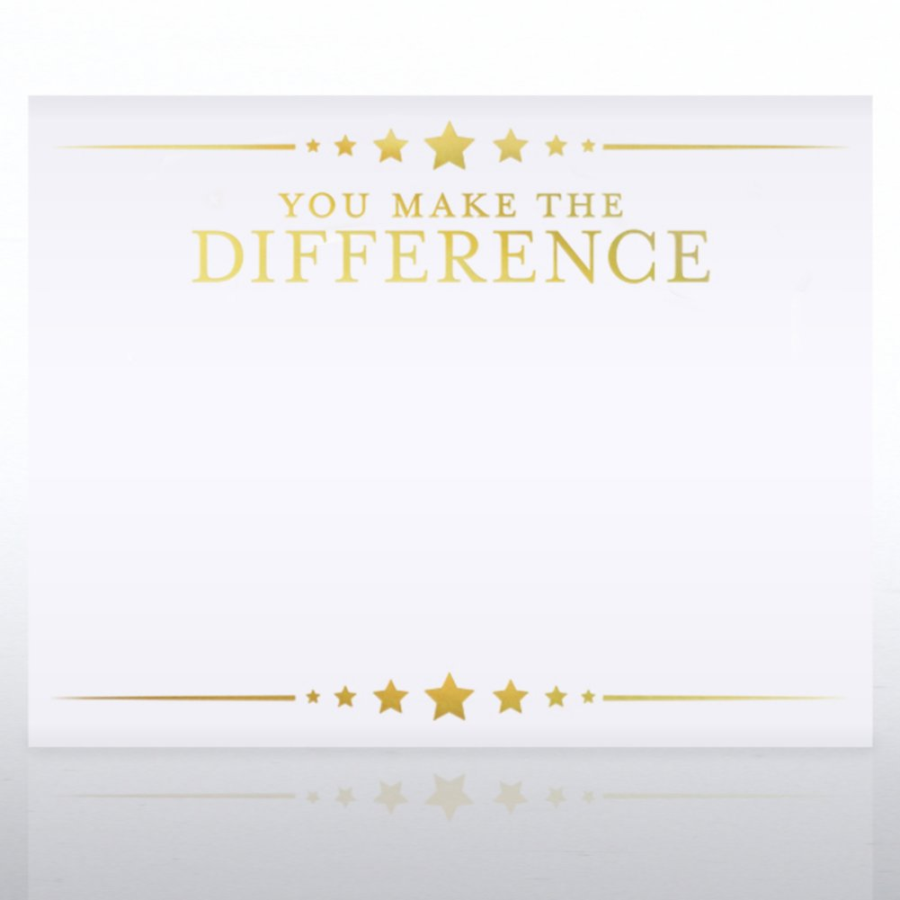 View larger image of Foil Certificate Paper - You Make the Difference - Stars
