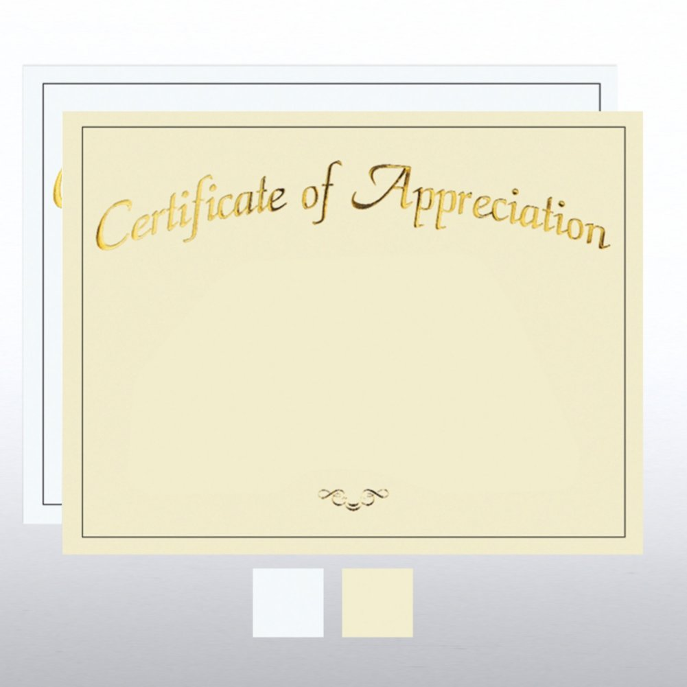 View larger image of Foil Certificate Paper - Certificate of Appreciation