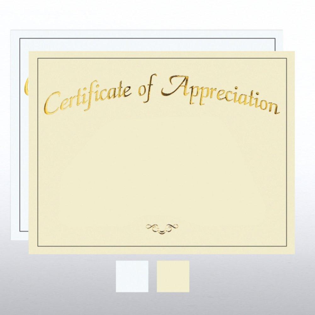 Foil Certificate Paper - Certificate of Appreciation