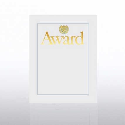 Foil Certificate Paper - Award w/ Crest - White