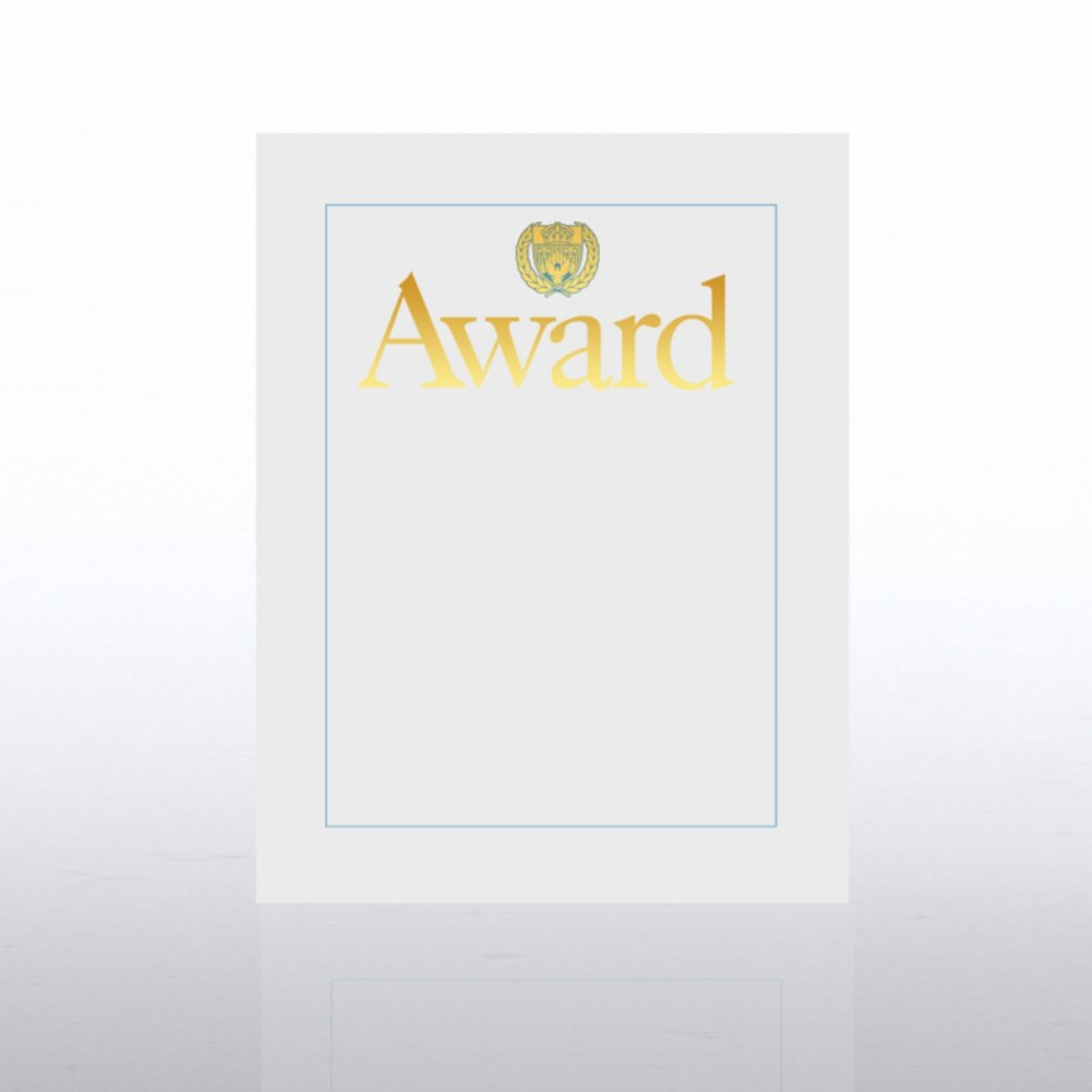 View larger image of Foil Certificate Paper - Award w/ Crest - White