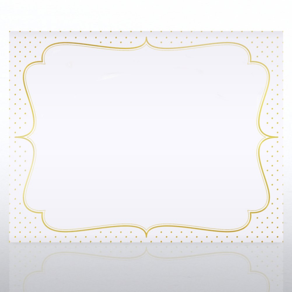 View larger image of Foil Certificate Paper - Dotted Ornate Frame