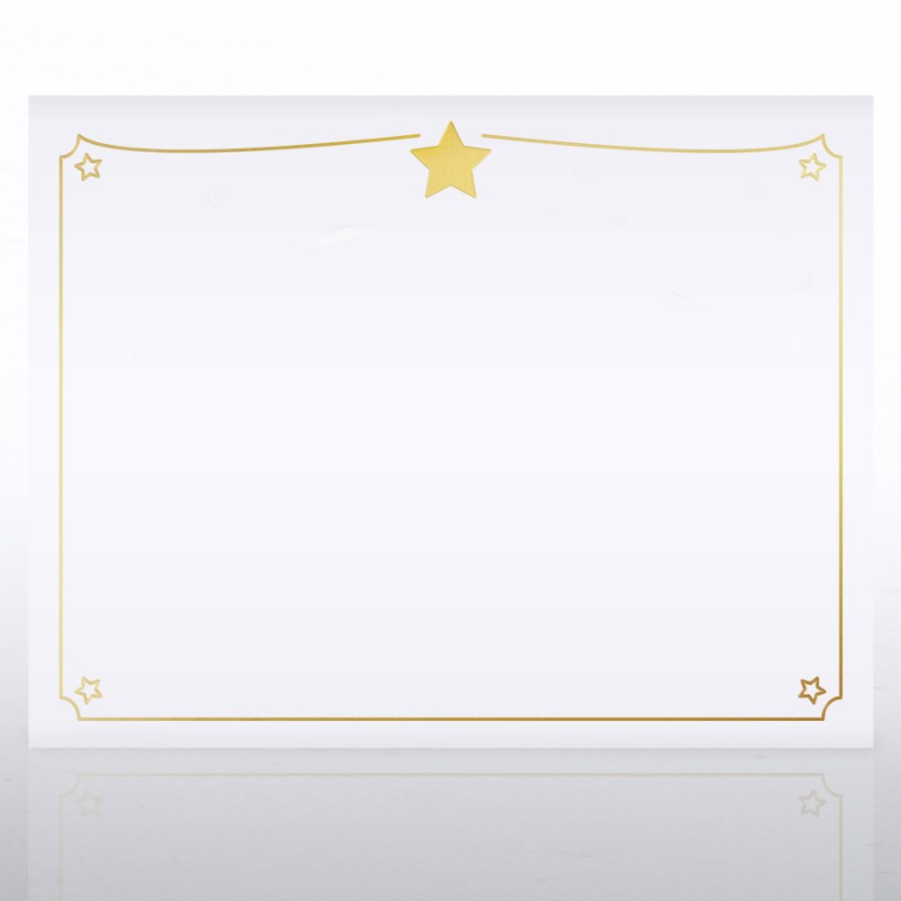 View larger image of Foil Certificate Paper -  Shining Star Border