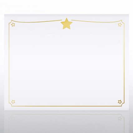 Foil Certificate Paper -  Shining Star Border