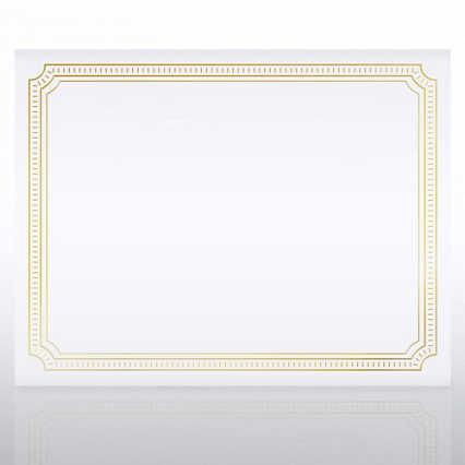 Foil Certificate Paper - Offical Border