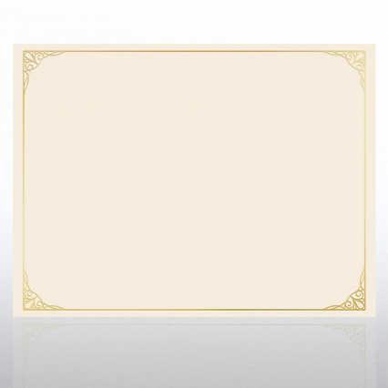 Foil Certificate Paper - Classic Filigree Border
