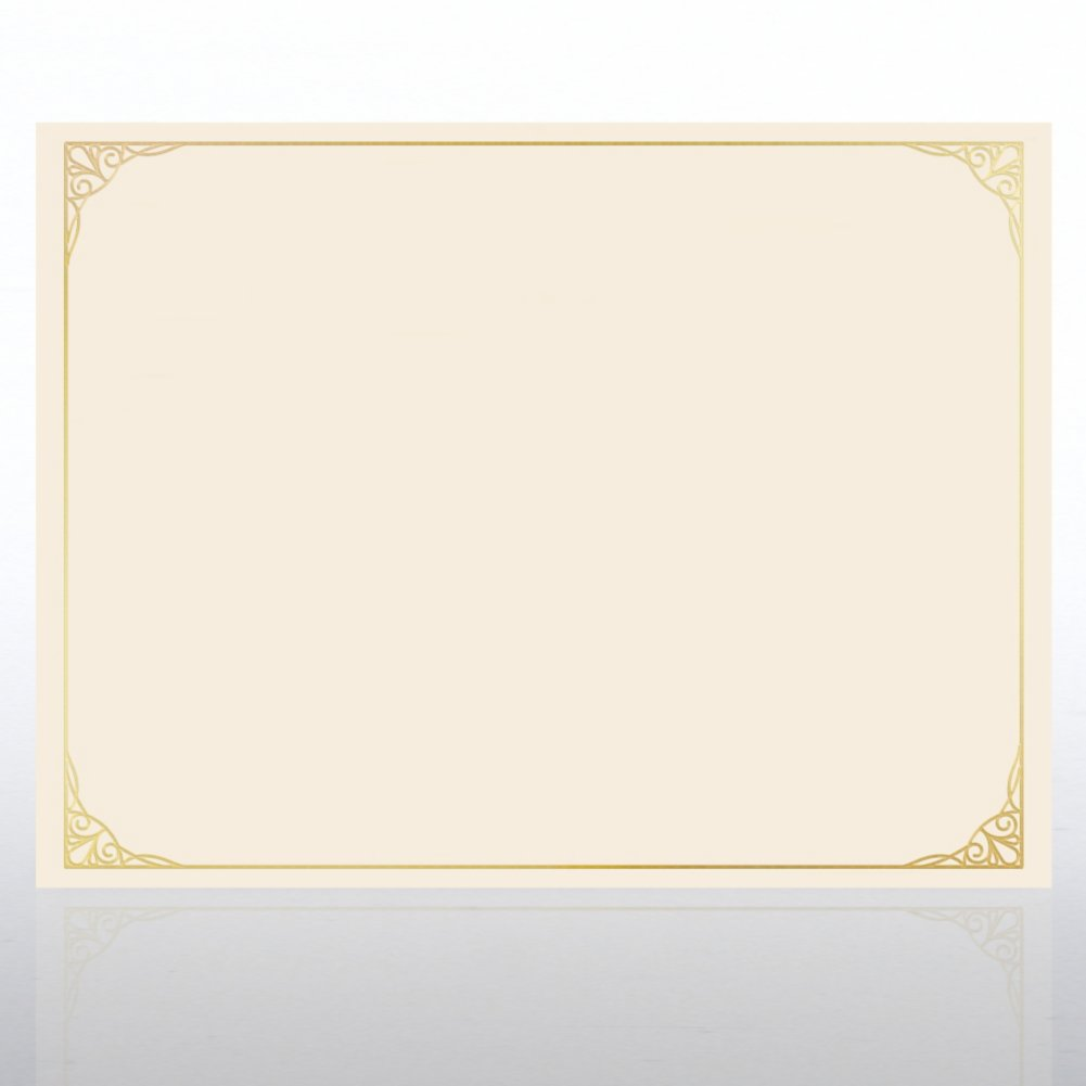View larger image of Foil Certificate Paper - Classic Filigree Border