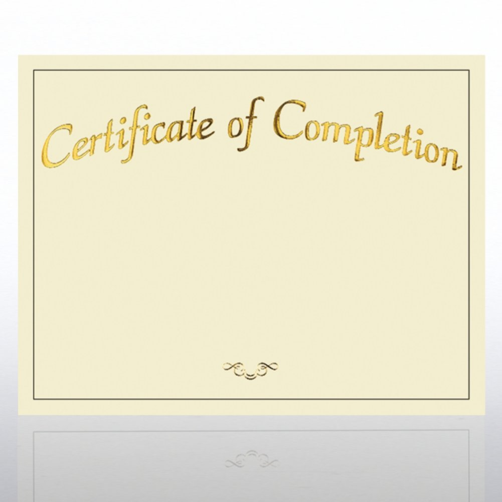 View larger image of Foil Certificate Paper - Certificate of Completion
