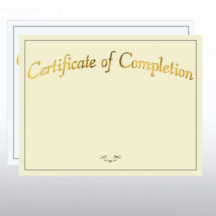 Foil Certificate Paper - Certificate of Completion