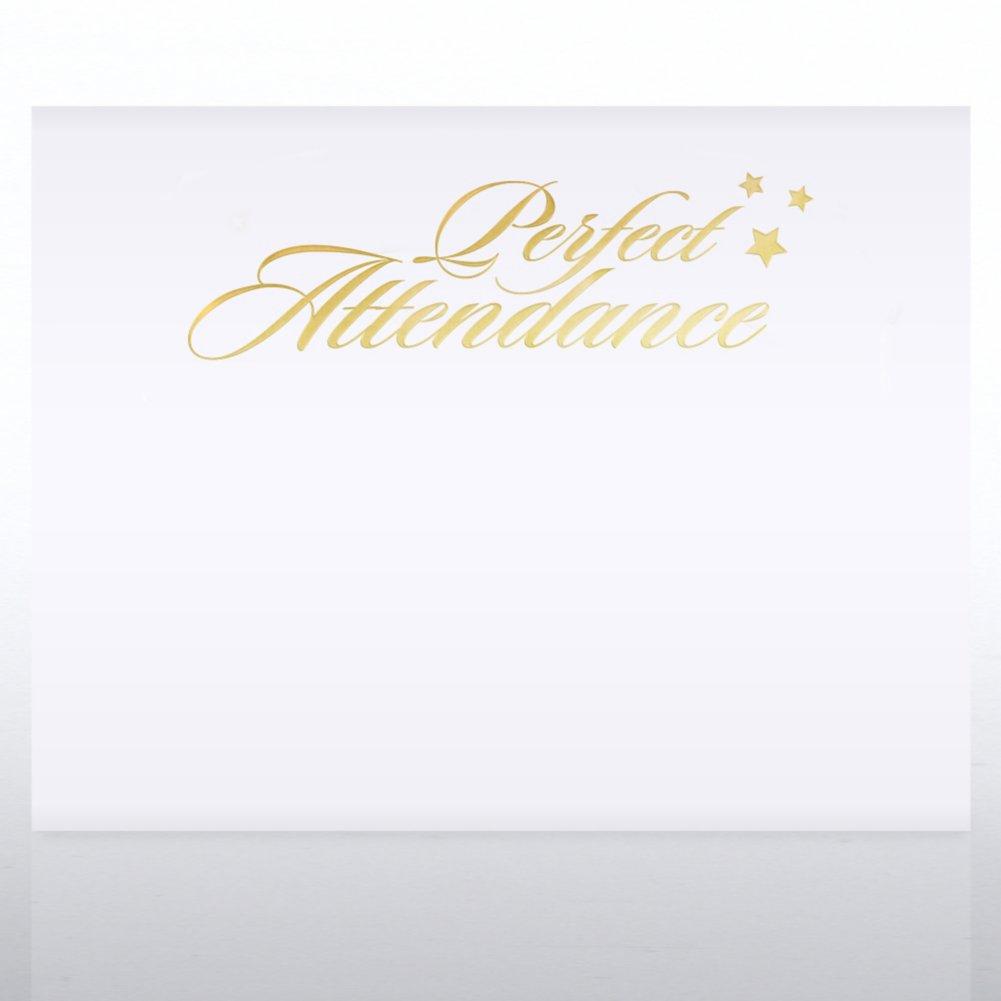Foil Certificate Paper - Perfect Attendance Stars
