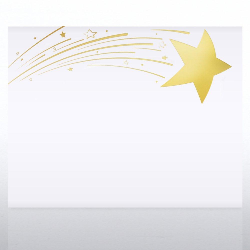 Foil Certificate Paper - Radiant Shooting Star