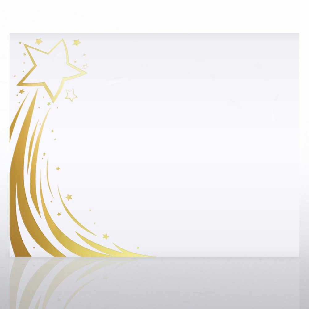 Foil Certificate Paper - Radiant Shooting Star - Side
