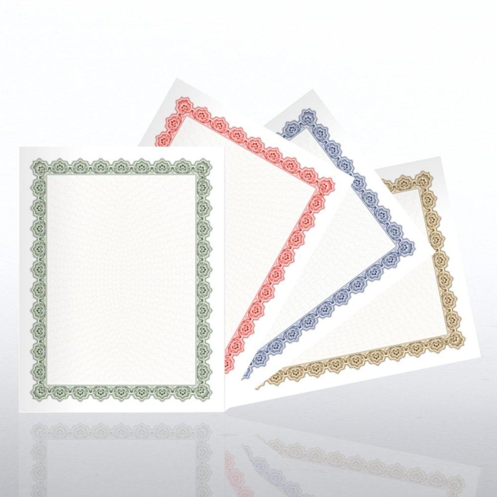 View larger image of Certificate Paper Sampler - Scallop Design