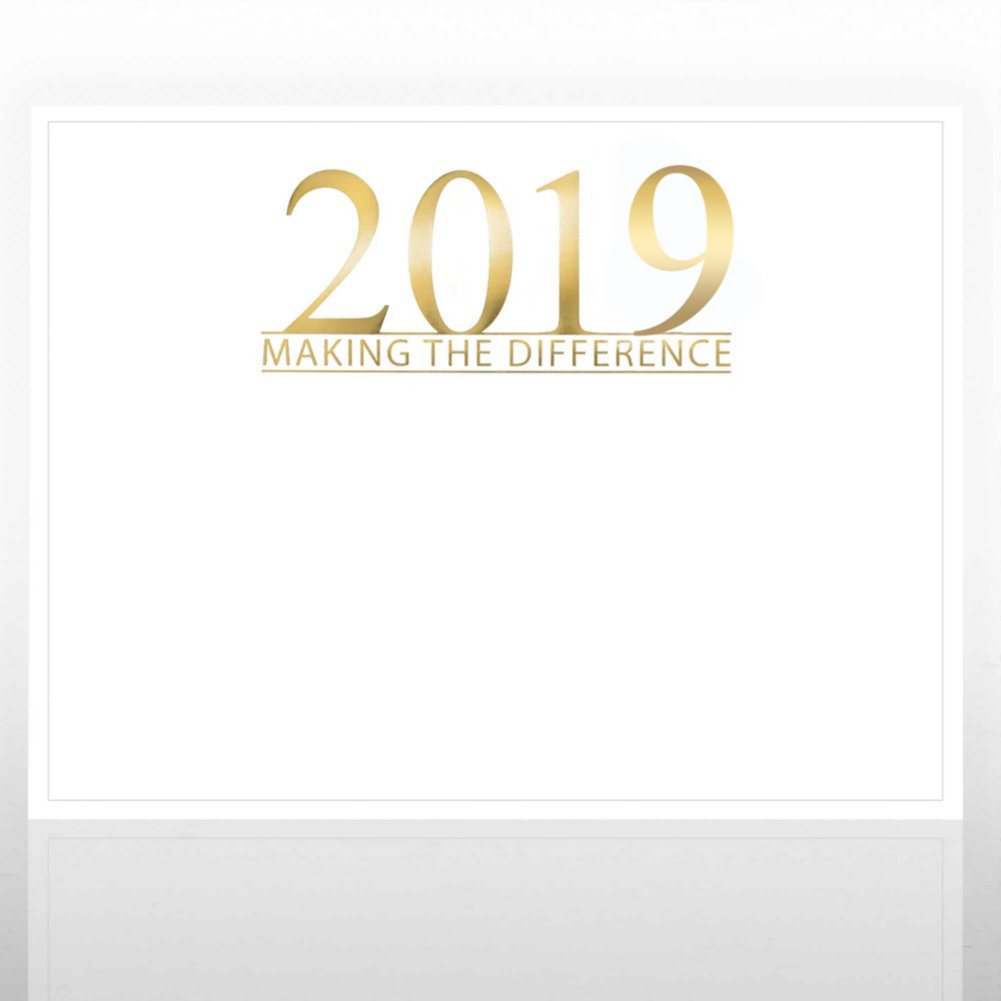 View larger image of Foil Certificate Paper - 2019 Making the Difference - White