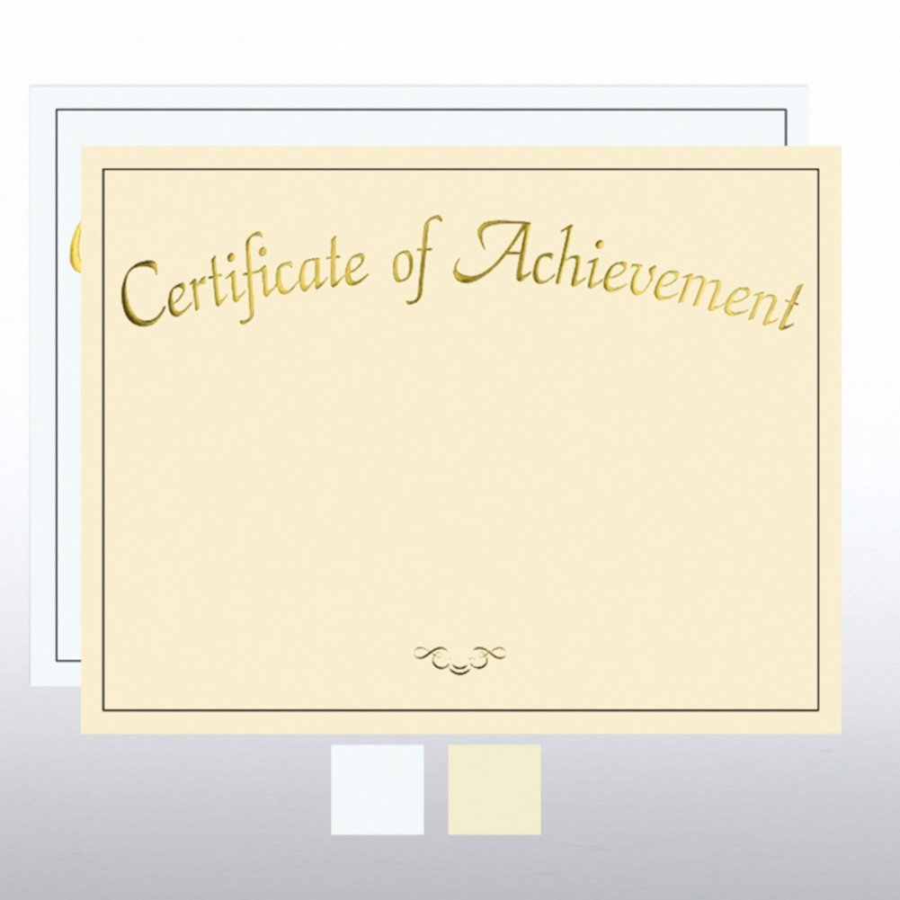 View larger image of Foil Certificate Paper - Certificate of Achievement