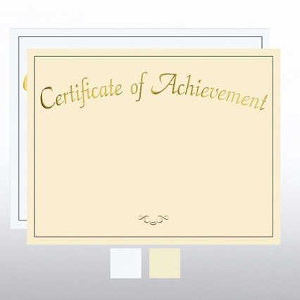 Foil Certificate Paper - Certificate of Achievement