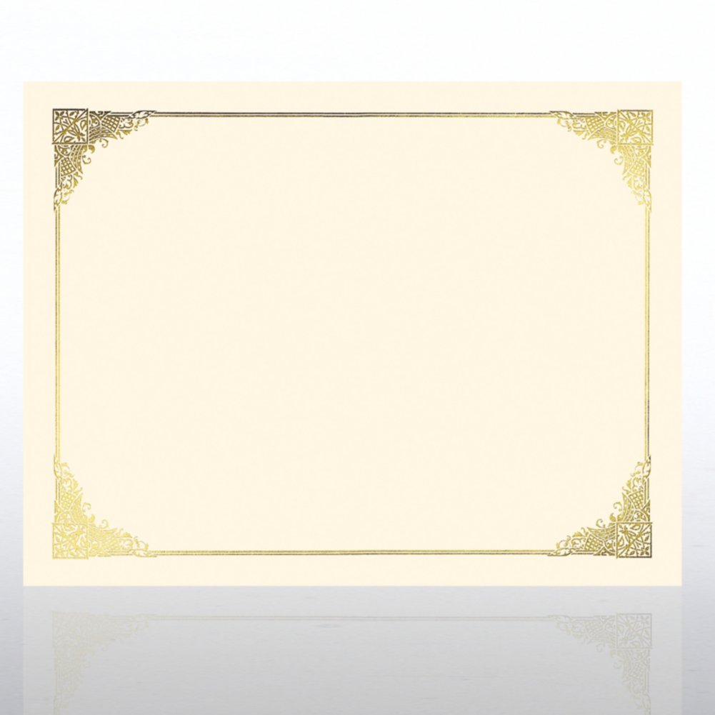 View larger image of Foil Certificate Paper - Ornate - Cream