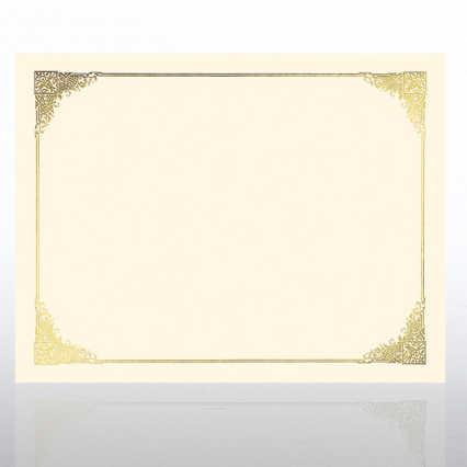 Foil Certificate Paper - Ornate - Cream
