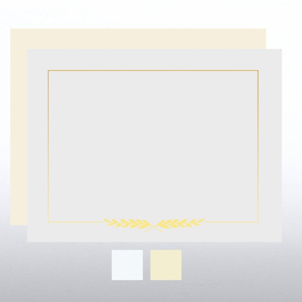 View larger image of Foil Certificate Paper - Laurel