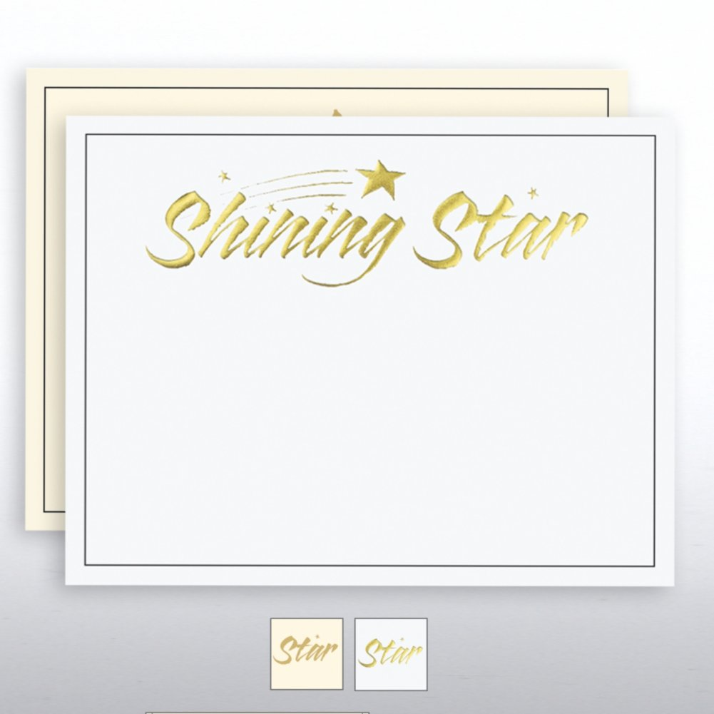 View larger image of Foil Certificate Paper - Shining Star