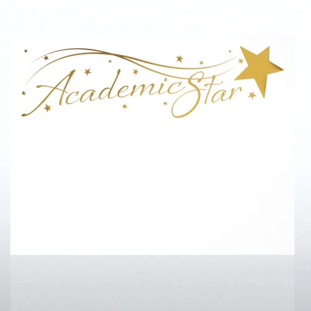 View larger image of Foil-Stamped Certificate Paper - Academic Star - White