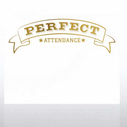 Foil-Stamped Certificate Paper - Perfect Attendance Award