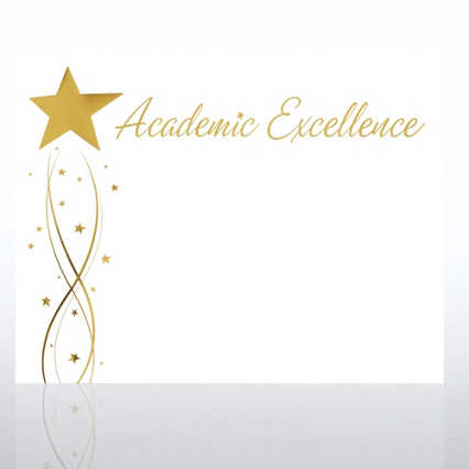 Foil-Stamped Certificate Paper - Academic Excellence Star