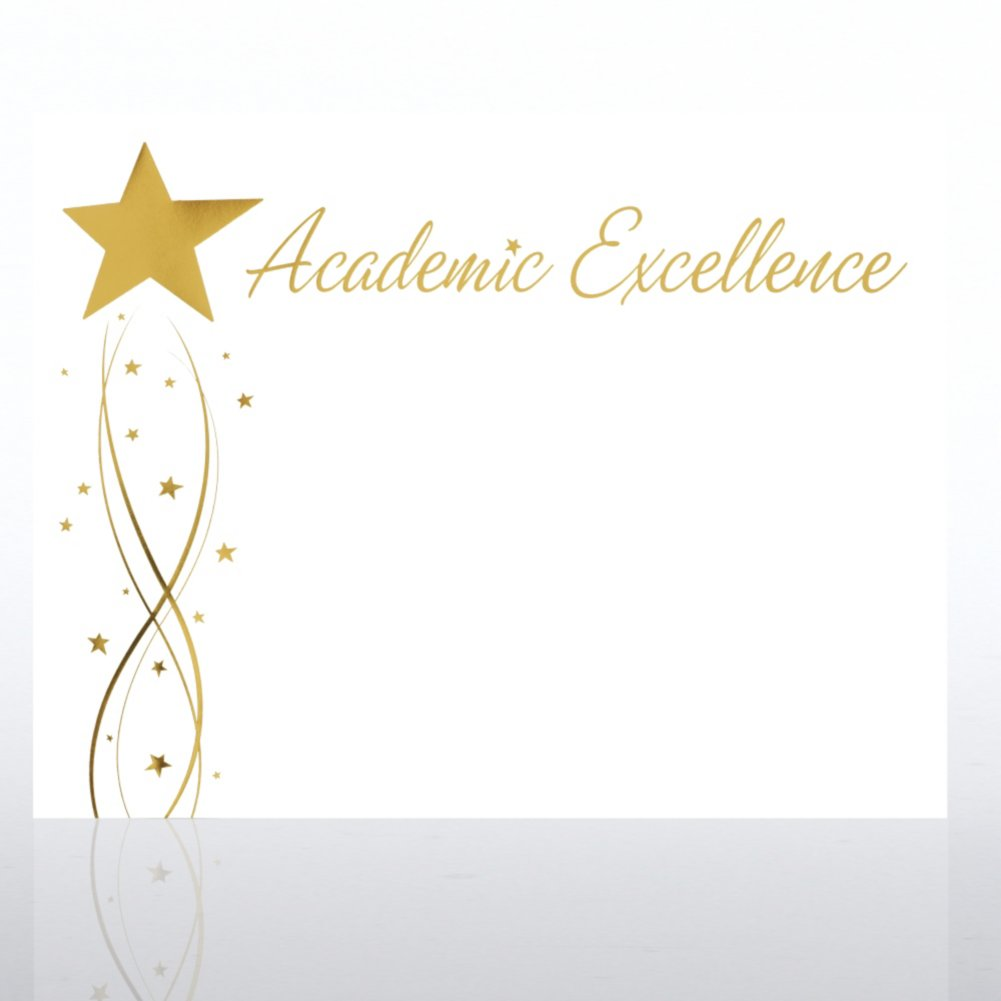 View larger image of Foil-Stamped Certificate Paper - Academic Excellence Star