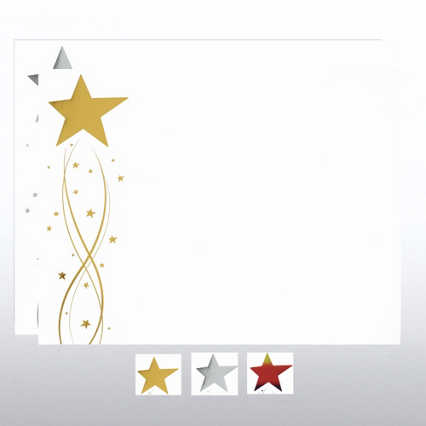 Foil-Stamped Certificate Paper - Shooting Star