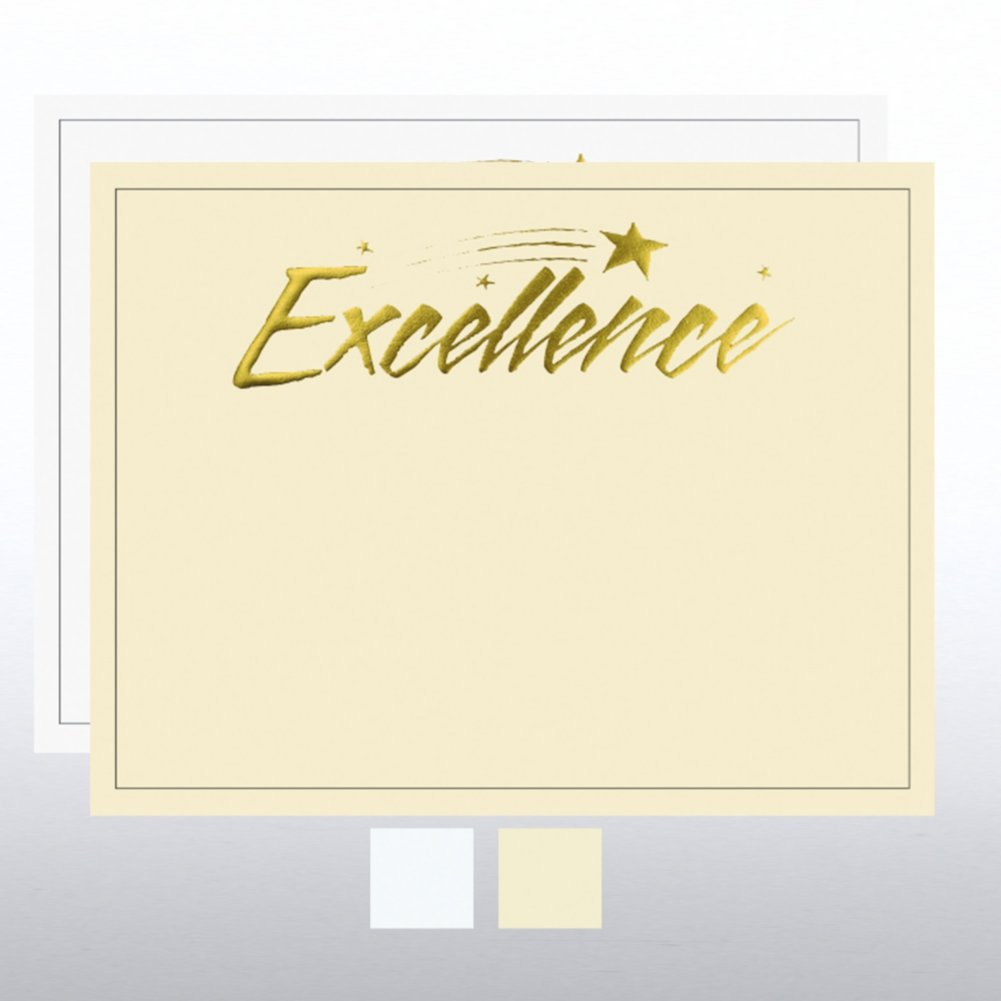 View larger image of Foil Certificate Paper - Excellence Star