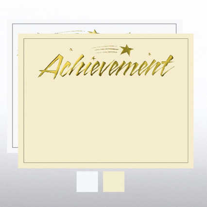Foil Certificate Paper - Achievement Blaze Star