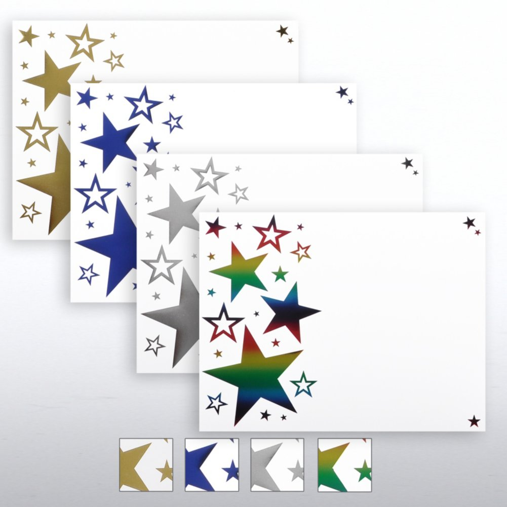View larger image of Foil Certificate Paper - Bright Stars