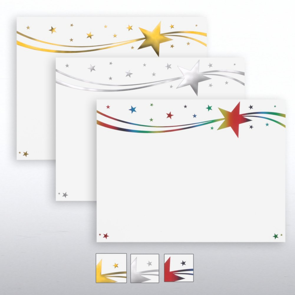 View larger image of Foil Certificate Paper - Milky Way Stars