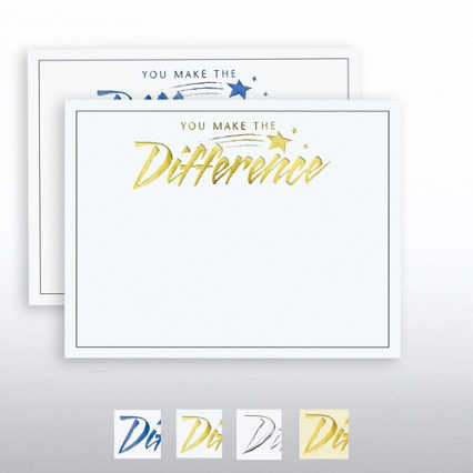 Foil Certificate Paper - You Make The Difference