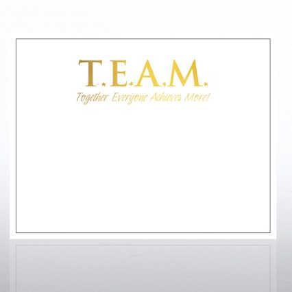 Foil Certificate Paper - TEAM - White