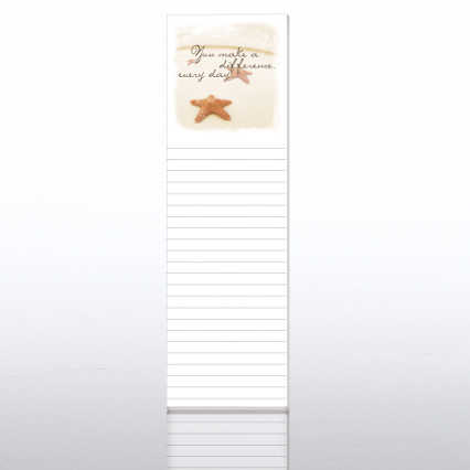 Quarter-Size Notepads - Starfish: You Make a Difference