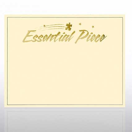 Foil Certificate Paper - Essential Piece - Cream w/ Gold