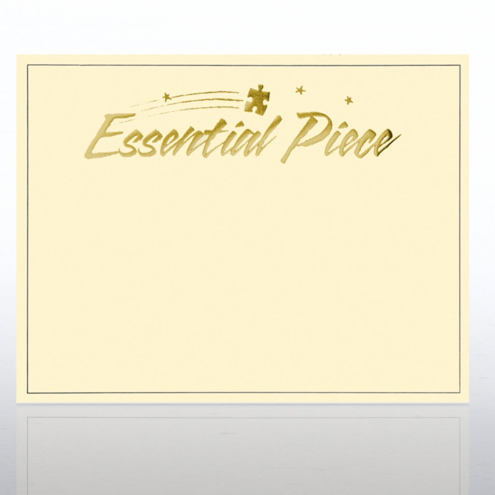 View larger image of Foil Certificate Paper - Essential Piece - Cream w/ Gold