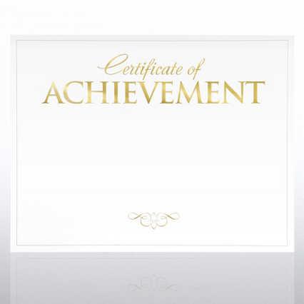 Foil-Stamped Certificate Paper - Certificate of Achievement