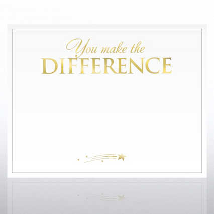 Foil-Stamped Certificate Paper - You Make the Difference