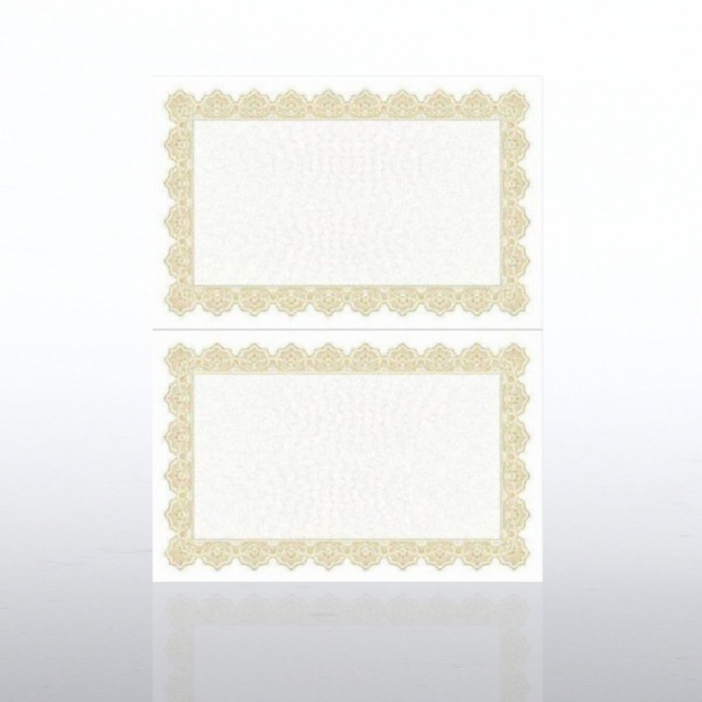 View larger image of Certificate Paper - Scallop - Half-Size - Gold